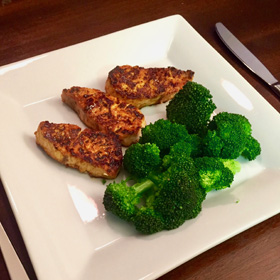 blackened fish with veggies