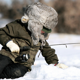 kid ice fishing